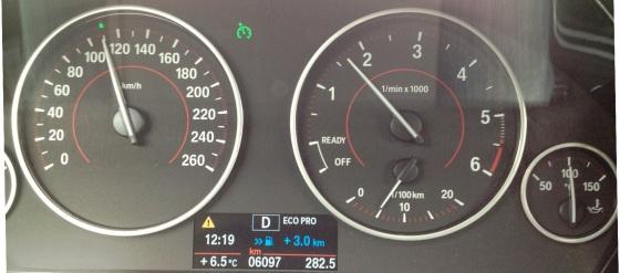 1600 rpm i motorvägsfart är trevligt.