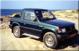 Mitsubishi Pajero Shogun, fanns med 3,5L V6 på 218hk som värst..