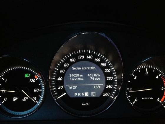 Långtidstest var ordet. Fullt godkänd förbrukning för en bil på knappa 2 ton.